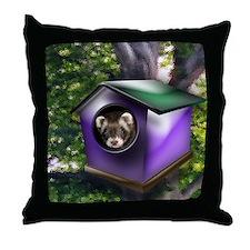 Ferret Tree House Throw Pillow