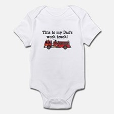 My Dad's Fire Truck Infant Bodysuit