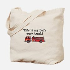 My Dad's Fire Truck Tote Bag