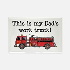 My Dad's Fire Truck Rectangle Magnet