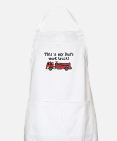 My Dad's Fire Truck BBQ Apron