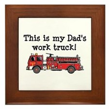 My Dad's Fire Truck Framed Tile