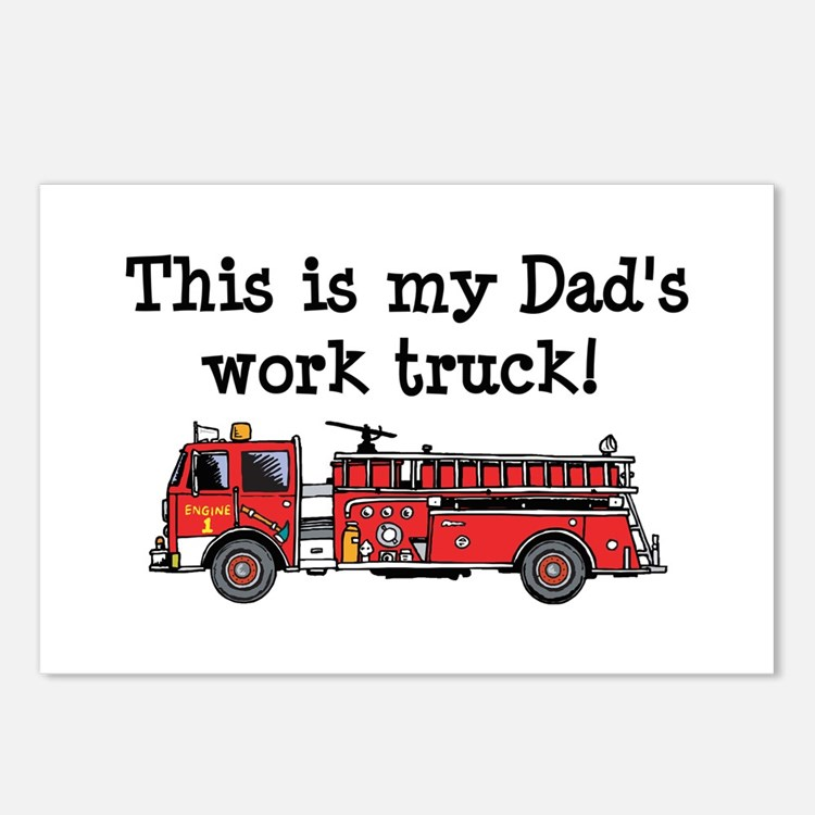 My Dad's Fire Truck Postcards (Package of 8)