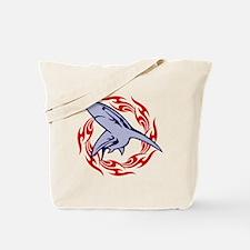 Flame Shark Tote Bag