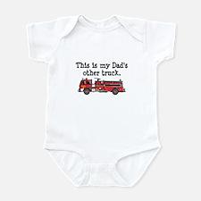 Dads Firetruck Infant Bodysuit