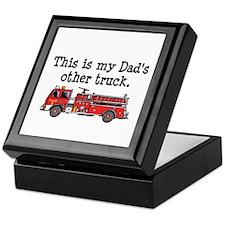 Dads Firetruck Keepsake Box
