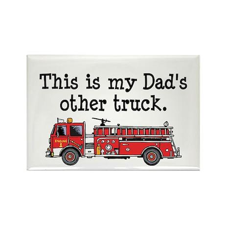 Dads Firetruck Rectangle Magnet (10 pack)