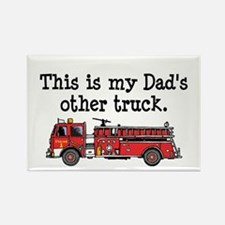 Dads Firetruck Rectangle Magnet