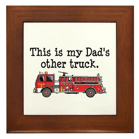 Dads Firetruck Framed Tile