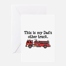 Dads Firetruck Greeting Card