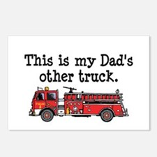 Dads Firetruck Postcards (Package of 8)