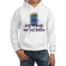 Boys in books are better Hoodie