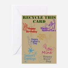 Recycled Card Greeting Card
