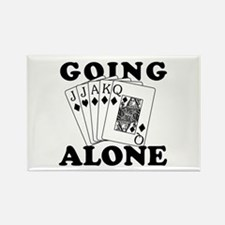 Euchre Going Alone/Loner Rectangle Magnet