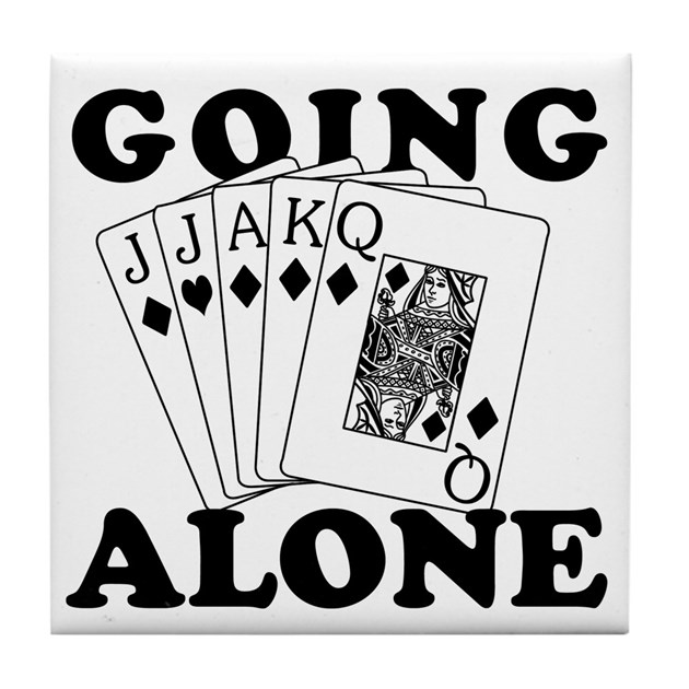 Euchre Going Alone Loner Tile Coaster By Koncepts