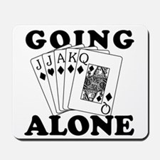 Euchre Going Alone/Loner Mousepad