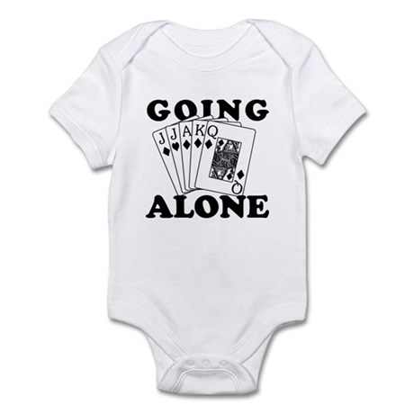 Euchre Going Alone/Loner Infant Bodysuit