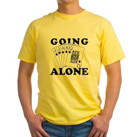 Euchre Going Alone/Loner Yellow T-Shirt