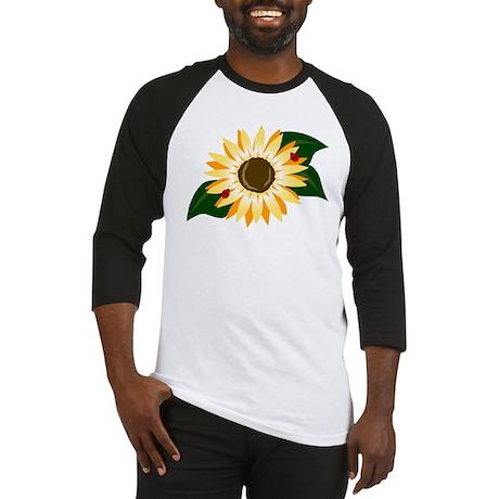 Sunflower & Ladybugs Baseball Jersey