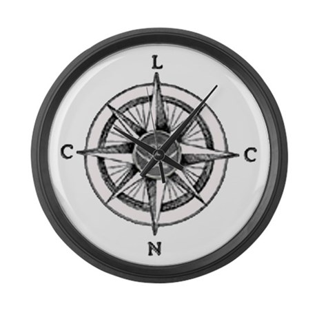 LCNC Compass - Large Wall Clock