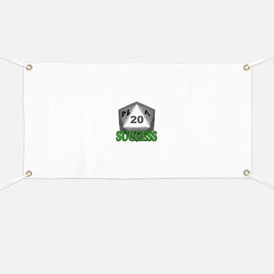 Success D20 Banner