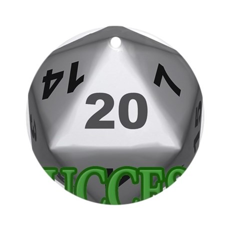 Success D20 Ornament (Round)
