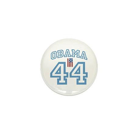 OBAMA 44 with Flag Mini Button