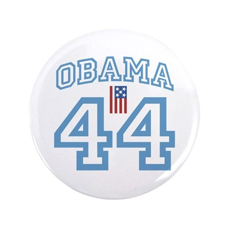"OBAMA 44 with Flag 3.5"" Button"