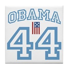 OBAMA 44 with Flag Tile Coaster