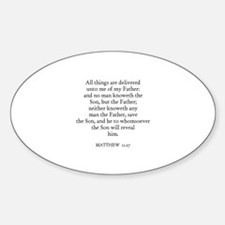 MATTHEW 11:27 Oval Decal