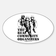 The REAL Community Organizers Oval Decal
