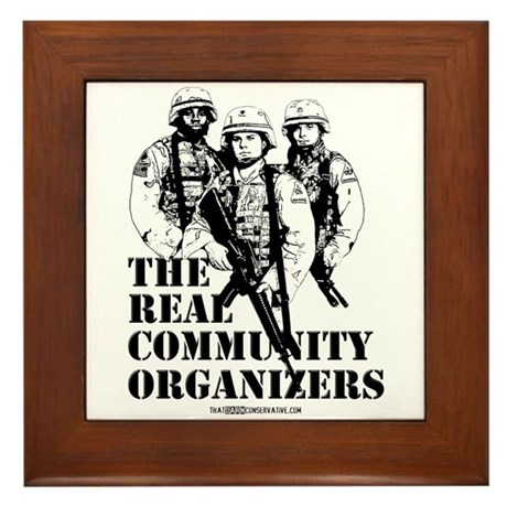 The REAL Community Organizers Framed Tile