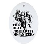 The REAL Community Organizers Oval Ornament