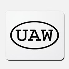 UAW Oval Mousepad