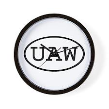 UAW Oval Wall Clock