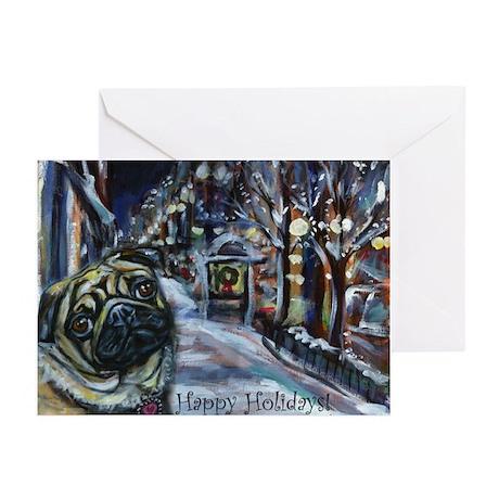 Pug Xmas holiday Greeting Cards (Pk of 20)