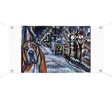 Basset Hound Holiday Banner