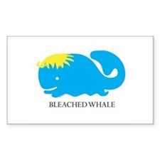 Bleached Whale Rectangle Decal
