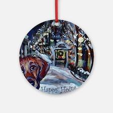 Dachshund Holiday Ornament (Round)