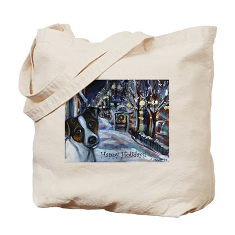 Jack Russell Terrier Holiday Tote Bag