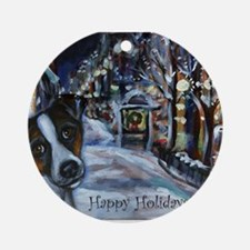 Jack Russell Terrier Holiday Ornament (Round)