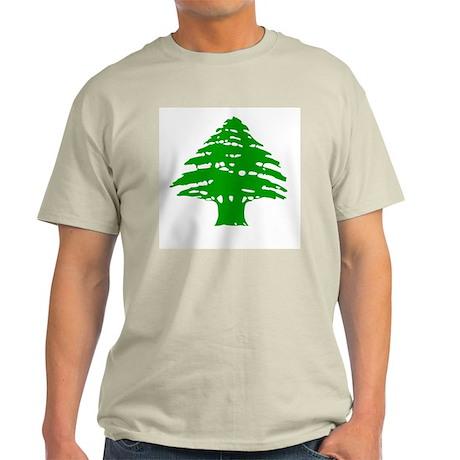 Green Cedar Tree Ash Grey T-Shirt