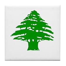 Green Cedar Tree Tile Coaster