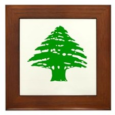 Green Cedar Tree Framed Tile