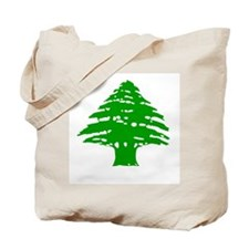Green Cedar Tree Tote Bag
