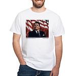 Reagan on Liberal Ignorance White T-Shirt