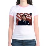 Reagan on Liberal Ignorance Jr. Ringer T-Shirt