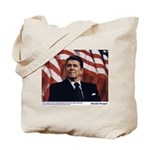 Reagan on Liberal Ignorance Tote Bag