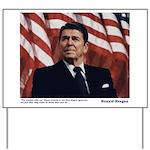 Reagan on Liberal Ignorance Yard Sign
