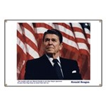 Reagan on Liberal Ignorance Banner